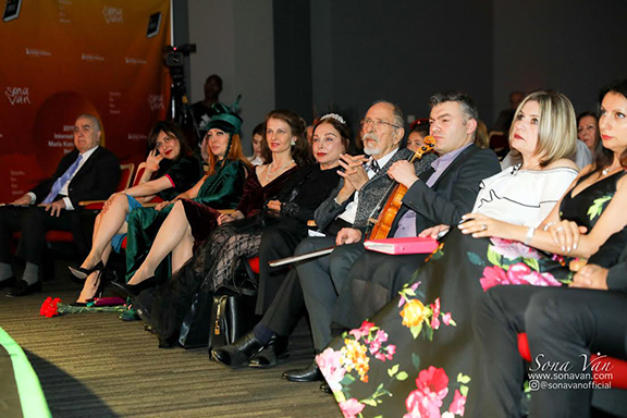 """A scene from the presentation of Van's """"Libretto for the Desert"""""""