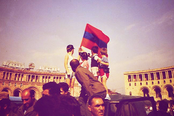 A scene from Armenian Independence Day, September 21, 1991