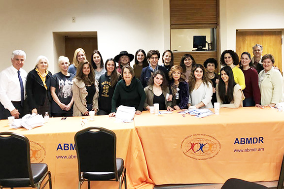 Organizers and supporters of the recruitment at Adventist Health Glendale. Photo courtesy of ABMDR