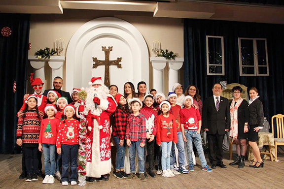 Scenes from the AMAA's Christmas and New Year's celebrations with children in Armenia and Artsakh