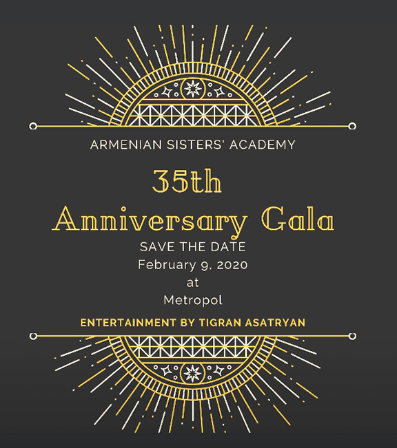 The Armenian Sisters' Academy's 35th Anniversary Gala is set for Feb. 9