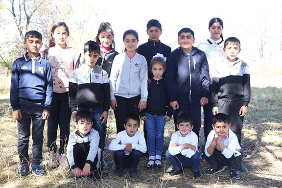 Students from the neighboring Kruglaya Shisha village, who would have had to walk 3 miles, one way, to get to school in Medovka