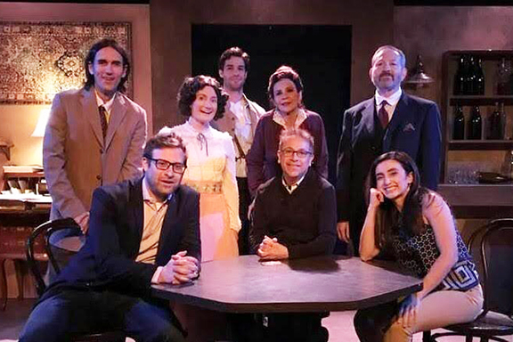 """Director Aram Kouyoumdjian (seated, center) with the cast of """"Constantinople."""" Photo by Armineh Hovanesian"""