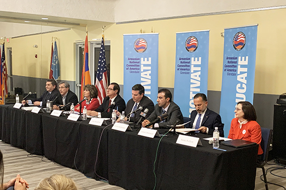 Eight Glendale City Council hopefuls  come together for ANCA Glendale's Community Candidates' Forum