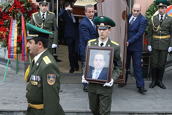 A scene from Kutoyan's funeral, which was held on Jan. 20