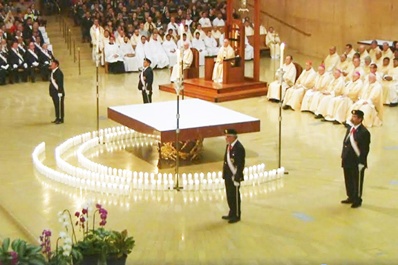 Scenes from the Archdiocese of Los Angeles' annual mass dedicated to the unborn, held on Jan.18
