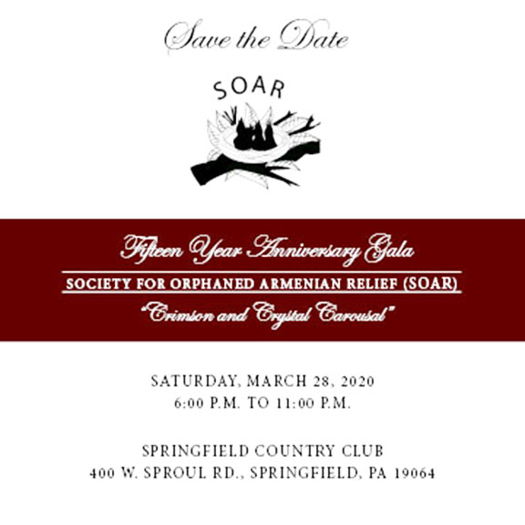 SOAR's 15th Anniversary Gala is set for March 28