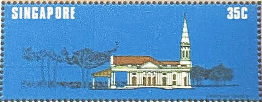 A postage stamp of St. Gregory the Illuminator Church issued in 1978, Singapore