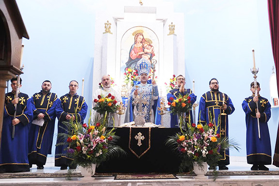 A scene from the Mass celebrated on St. Garabed Church of Hollywood's name day
