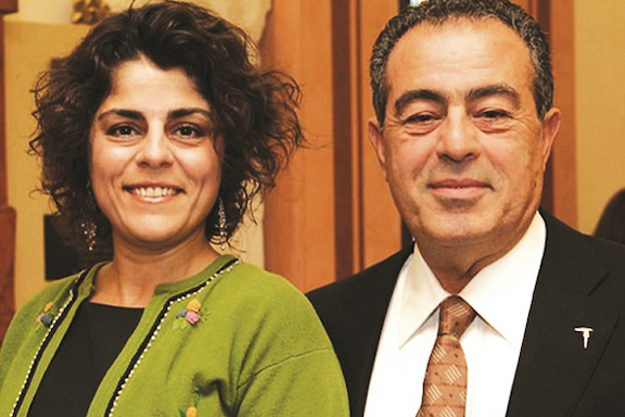 Nazareth Kevonian and her daughter, Tamar who was once a regular columnist for Asbarez