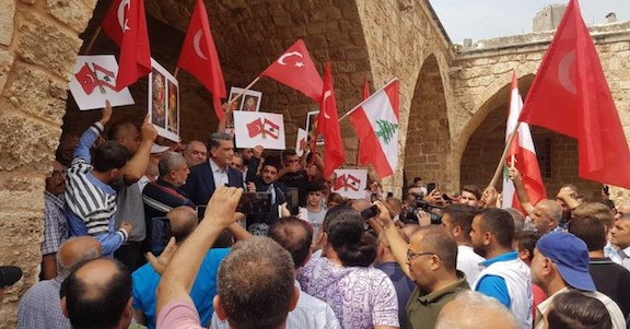 Pro-Turkish/Ottoman rally in Tripoli after President Michel Aoun denounced the starvation policy of the Ottoman Empire in Mount Lebanon (1915-1916), where around 200,000 Lebanese perished, mostly Christians