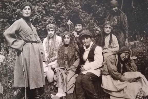 From the author's family photo album: a group of young people in Moujunbar