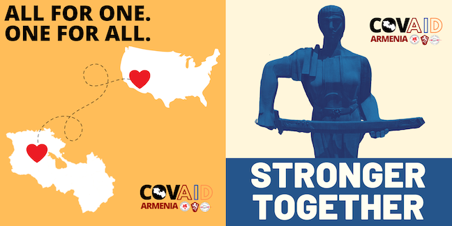 Together we can help the homeland by contributing to CovAID Armenia