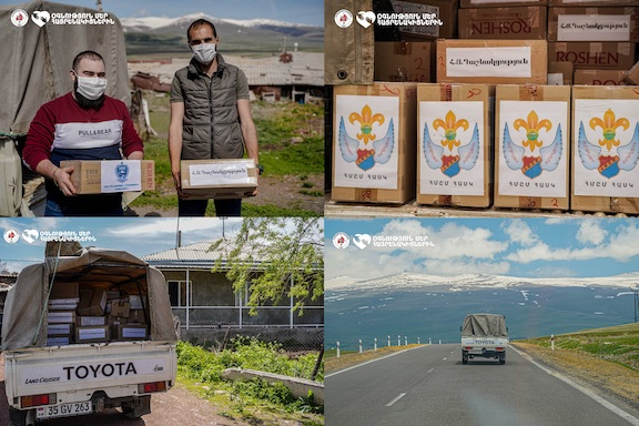 The Armenia branches of ARF, ARS and Homenetmen deliver packages to border villages in Armenia