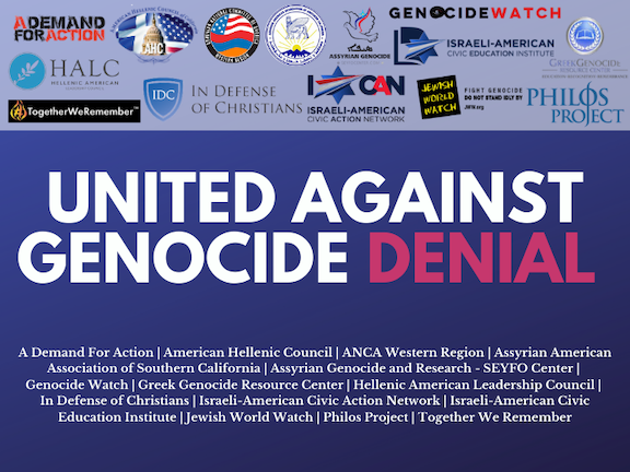 ANCA-WR and coalition partners slam Erdogan's latest attempt to deny the genocide