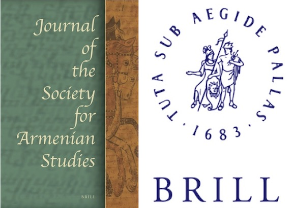 Brill will now publish the Journal of the Society of Armenian Studies