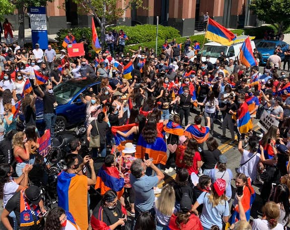 Thousands attended demonstrations this fall organized by the AYF to protest Azerbaijan's aggression against Armenia and Artsakh