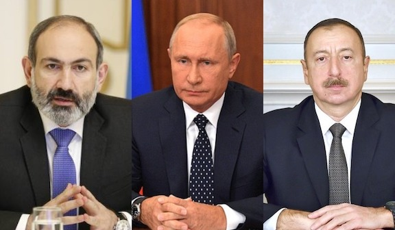 Leaders of Armenia, Russia and Azerbaijan are said to hold a meeting in Moscow on Monday.