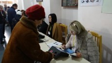 A woman casts her ballot during the 2018 parliamentary elections in Armenia