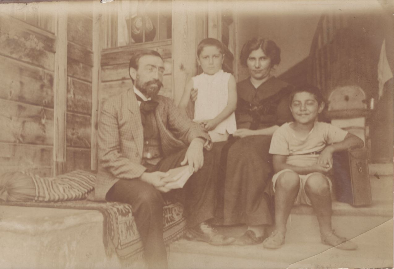 Levon Shant and his family. A novelist and playwright, Shant founded the Hamazkayin Educational and Cultural Society