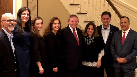 The ANC of New Jersey has worked with Senator Robert Menendez (D-NJ) for decades on shared policy concerns.  Incoming Senate Foreign Relations Committee Chairman Robert Menendez (D-NJ) is seen here with ANCA supporters and leaders Hovig Koushagjian, Karine Shnorhokian, ANCA Board Member Ani Tchaghlasian, Kim Hekimian, Maral and James Sahagian, and ANCA Chairman Raffi Hamparian