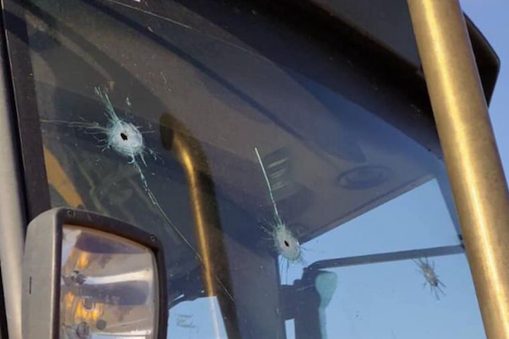 Azerbaijani forces opened fire at a civilian and a group of soldiers in Artsakh's Shosh, damaging a truck