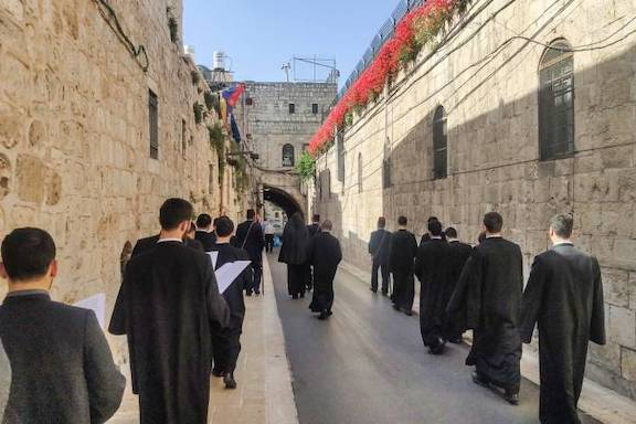 The route to the Armenian Patriarchate in Jerusalem