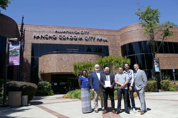 Outside of the Rancho Cordova City Hall after the city council's recognition of Artsakh