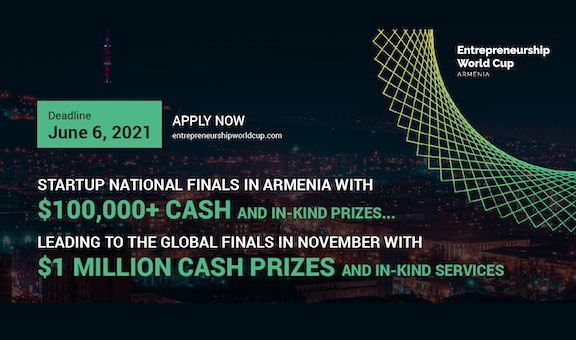 The deadline to submit the application for the Entrepreneurship World Cup is June 6