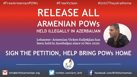 A petition calling for the release of all Armenian POWs has been launched on change.org